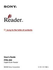 sony prs 300 user s guide manuals rh manualslib com Reset Sony Reader PRS-300 Sony Digital Book Reader PRS-600