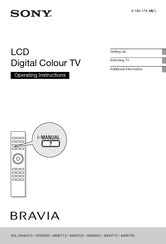 Sony BRAVIA KDL-40NX803 Operating Instructions Manual