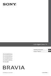 Sony Bravia KDL-52V4000 Operating Instructions Manual