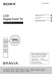 sony kdl 52ex700 bravia ex series lcd television manuals rh manualslib com sony bravia klv-32s550a 32-inch lcd tv manual sony lcd tv bravia manual