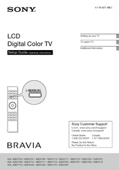 sony kdl 40ex700 bravia ex series lcd television manuals rh manualslib com sony bravia user manual download sony bravia owners manuals