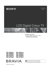 Sony BRAVIA KDL-40T28xx Operating Instructions Manual