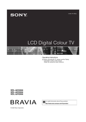 Sony kdl-32v2500 is wax2t chassis service manual by dow for sale.