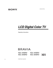 sony bravia kdl 40xbr2 operating instructions manual pdf download rh manualslib com Connections On a Sony Bravia 40 Sony Bravia TV Review