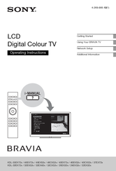 Sony Bravia KDL-40EX52 Series Operating Instructions Manual