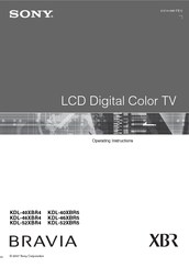 sony bravia kdl 40v4100 manual