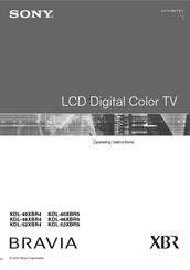 sony bravia kdl 40xbr4 operating instructions manual pdf download rh manualslib com sony xbr manual pdf sony bravia xbr4 manual