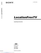 Sony LF-X1, LF-X5 Operating Instructions Manual