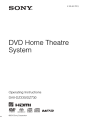 Sony DAV-DZ330 Operating Instructions Manual