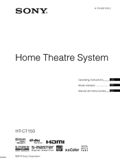 Sony HT-CT150 Operating Instructions Manual