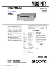 sony mds je330 manual pdf