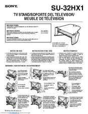 Sony SU-32HX1 Instructions Manual