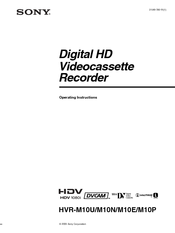 sony 1080i operating instructions manual pdf download rh manualslib com Sony 1080I HD Progressive Sony Handycam