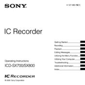 sony icd sx700 manuals rh manualslib com Sony Ad Sony ICF