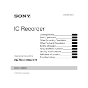 sony icd px820 digital flash voice recorder manuals rh manualslib com sony ic recorder icd-px820 user manual ic recorder icd-px820 manual