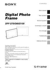 sony dpf d70 digital photo frame manuals rh manualslib com Sony D70 Camera Sony EVI-D70 Remote
