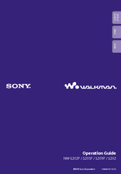 Sony NWS203F - S2 Sports Walkman 1 GB Digital Player Operation Manual