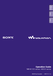 Sony NW-A1000 Operation Manual