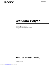 Sony NSP-100 Operating Instructions Manual