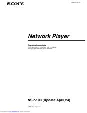 Sony NSP-100 Operating Instructions Manual