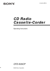 Sony CFD-S35CP Operating Instructions Manual