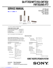 Sony SS-FRF7ED Service Manual
