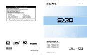 Sony WEGA KDS-R70XBR2 Operating Instructions Manual