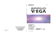 Sony GRAND WEGA KF 42WE610 Operating Instructions Manual