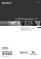 sony kf e42a10 kf e50a10 lcd tv service manual