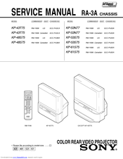 Sony KP 48S75 Service Manual
