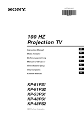 Sony KP-48PS1 Instruction Manual