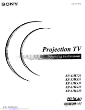 Sony TRINITRON KP-61HS20 Operating Instructions Manual