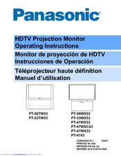 panasonic pt47wx53g 47 projection tv manuals rh manualslib com Panasonic TC 40A420u Manual panasonic projector tv manual