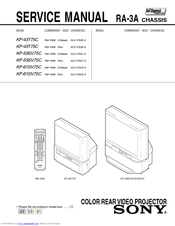 Sony KP-43T75C Service Manual