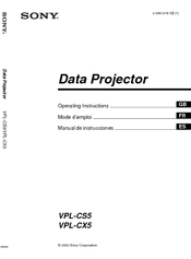 sony vpl cx5 xga lcd projector manuals rh manualslib com sony vpl-cx5 manual sony vpl-cx5 manual