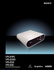 Sony vpl-es5 ex5 ex50 ex5u ew5 sm service manual download.