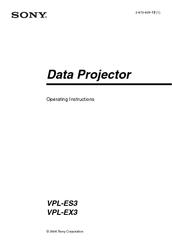 sony vpl ex3 manuals rh manualslib com sony vpl-ex3 projector user manual sony vpl-ex3 specs