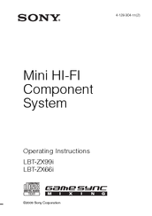 Sony HCD-ZX66I - Cd/receiver Component For Compact Hi-fi Stereo System Operating Instructions Manual