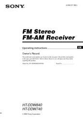 sony str k740p fm stereo fm am receiver manuals rh manualslib com Sony Shelf Stereo Systems New Sony Home Stereo Systems