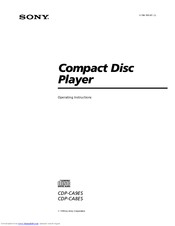 Sony CDP-CA9ES - 5 Disc Cd Changer Operating Instructions Manual