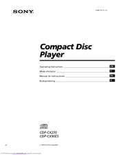 Sony CDP-CX270 - 200 Disc Cd Changer Operating Instructions Manual