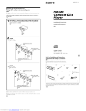 sony cdx c410 manuals sony cdx c410 installation connections