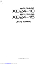 Star Micronics XB24-15 Manuals