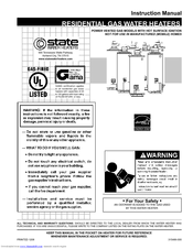 State Water Heaters Select PowerVent C3 FVIR GS6 50 YBVIT Manuals