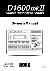 Korg EASYSTART D1600MKII Owner's Manual