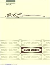 Sub Zero 590 Information Manual