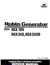 Robin America RGX240 Service Manual
