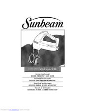 Sunbeam 2486 Instruction Manual