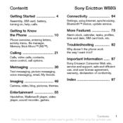 Sony ericsson walkman w580i manuals.