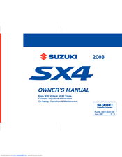 suzuki sx4 sx4 sedan owner s manual pdf download rh manualslib com suzuki sx4 service manual 2007 2007 suzuki sx4 owners manual download